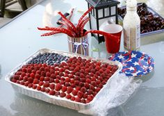 berry-topped cake or other   white-topped desert   in rectangular pan.  Secrets of a Super Mommy:   Summer Fun
