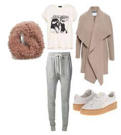 """""""Baby it's cold outside"""" by tyra-breann on Polyvore featuring James Perse, Harris Wharf London, Puma and Wet Seal"""