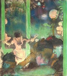 Edgar Degas, Mademoiselle Bécat at the Café des Ambassadeurs