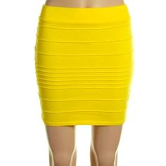 Selling this NWT WOW Couture Yellow Bandage Skirt M Sz in my Poshmark closet! My username is: hacsince91. #shopmycloset #poshmark #fashion #shopping #style #forsale #WOW couture #Dresses