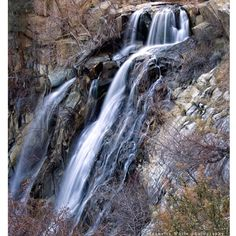 Beautiful waterfall in the sequoia forest.