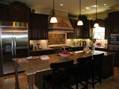 contemporary dark brown painted kitchen cabinets | home