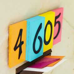 Your house is a stand out! Your house numbers can be too with this colorful project.