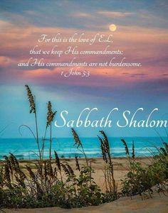 Shabbat Shalom -- Scripture & beach