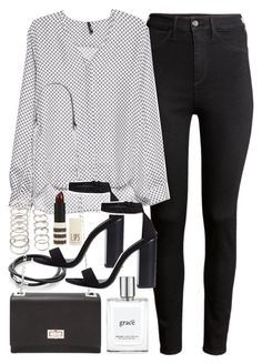 """Outfit for drinks with friends"" by ferned on Polyvore featuring H&M, MANGO, Forever 21, Zara, philosophy and Topshop"