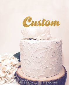 Custom cake topper. Chic baby shower decor. Personalized by byive