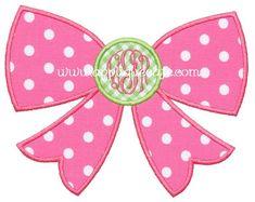 Bow Applique Design