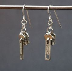 Found Object Jewelry Upcycled Silver Zipper Pull by Tanith on Etsy, $12.00