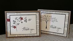 Handmade Greeting Cards - Stampin Up - Thank you