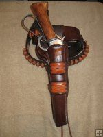 High Rider Gun Belt Double Loop Mares Leg Laig Side Holster