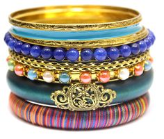 LADYMEE Bracelet Bangle Jewelry Wooden Beaded Vintage Bracelets for Women Statement Bangles Indian Jewelry Bracelet Set Pulsera