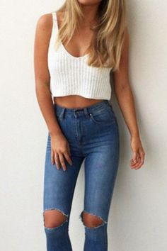 This is one of the best frat party outfit ideas you need to try! Casual Outfits, Fashion Outfits, Womens Fashion, Fashion Trends, Bar Outfits, Vegas Outfits, Denim Outfits, Woman Outfits, Jeans Fashion