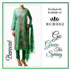Add charm to your everyday #wardrobe with this floral embroidered green suit by #Bareeze. The 3-piece outfit is available for just £77.00! Order it now on www.goo.gl/6AK4Wf. #Burooj #Buroojuk #bareeze #Pakistani #Fashion #pakistanistyle #lawn #Womenstyle #Beauty #fashionblogger #swag #Manchester #Pakistanifashion #Instastyle #instafashion #Fashionista #fashiondiaries #Pakistani #Pakistaniwear #fashionstyle #style #ootd #outfitoftheday #lookoftheday #fashionpost #instapic #summer