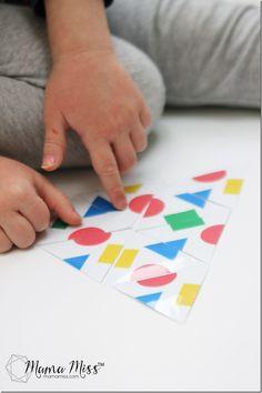 Inšpirovaný myšou Shapes - Vytvorte Triangle Teselace Puzzle | mamamissblog # vbcforkids #bookactivities #freeprintable