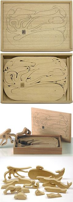 Enzo Mari: 16 Pesci Italian Modern Design Wooden Puzzle Plus Wood Projects, Woodworking Projects, Youtube Woodworking, Woodworking Videos, Wood Crafts, Diy And Crafts, Enzo Mari, Wooden Jigsaw Puzzles, Wooden Animals