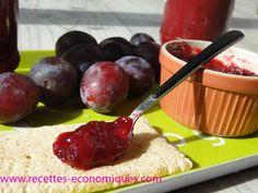 Recette de la confiture de prunes au thermomix, la texture est parfaite, ne coule pas sur la tartine. Je mets un peu d'agar agar et c'est parfait.