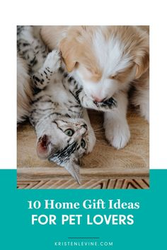 Shopping for that perfect gift for pet parents can be stressful! But it doesn't have to be. You'll love these 10 gift ideas for pet lovers.  Like this pin? Share me!  #giftsforpetparents #petlovergifts #giftsfordogparents #giftsforcatparents