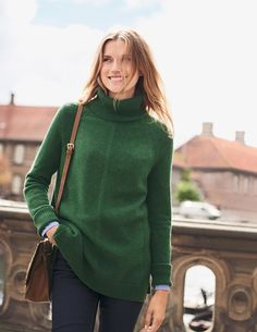 Get cosy with our range of knitwear for women at Boden. Our lightweight layers, winter-ready knits and cashmere jumpers will be your cold-weather saviours. Winter Outfits, Winter Clothes, Winter Stil, Knitwear, Winter Fashion, Cashmere, Women Wear, Sweaters For Women, Turtle Neck