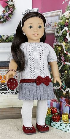 Ravelry: cataddict's gifts around the Christmas tree FREEBIE dress pattern