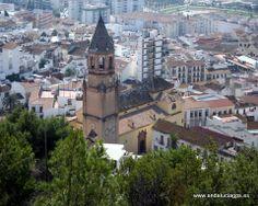 """#Málaga - Vélez-Málaga - Iglesia de San Juan Bautista Coordenadas GPS: 36º 47' 2"""" -4º 6' 2"""" / 36.783889, -4.100556  La primitiva Iglesia, gótico mudéjar, se levantó en 1487 sobre una antigua mezquita medieval. A principios del siglo XVI conocerá una remodelación en su fábrica, produciéndose entre 1541 y 1564 una ampliación del templo, construyéndose en esta época su impresionante torre campanario."""