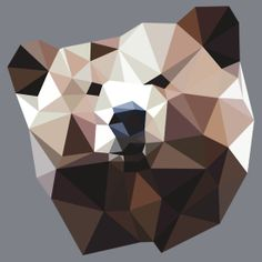 Grrrrr!!! This is my bear t-shirt I did. One of my first polygonal art pieces. You can get it on redbubble.