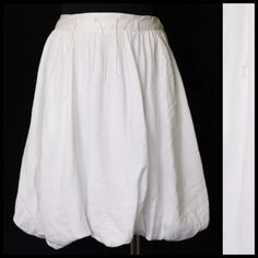 """White European Culture Fun Bubble Shirt XS Small European Culture Skirt  Size XS  Retail $338   Awesome skirt!!!  So super soft you will never want to take it off.  Great waistband with dangling ties.  Bubble bottom.  Fully lined.  Made in Italy.  100% cotton & machine washable.  Elastic band in the back for a perfect fit.  All measurements are taken with garment lying flat.  Waist 27-30""""  Length of garment 22"""" European Culture Dresses"""