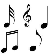 Free 5 SVG Music Symbols/ free/ dn / listed under stencils. Silhouette Cameo, Silhouette Projects, Music Silhouette, Stencils, Music Symbols, Music Wallpaper, Svg Cuts, Cricut, Clip Art