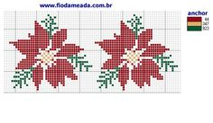 flores Wedding Cross Stitch, Xmas Cross Stitch, Cross Stitch Pillow, Cross Stitch Flowers, Counted Cross Stitch Patterns, Cross Stitch Designs, Cross Stitching, Cross Stitch Embroidery, Embroidery Patterns