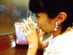 JULICA BONBON BIJOUX - DEBUT ! EAR.- SWEET PINK & BONBON PEARL RING - CLASSIC