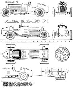 Alfa Romeo P3 (1932/33) | SMCars.Net - Car Blueprints Forum