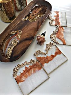 Epoxy Resin Art, Diy Resin Art, Diy Resin Crafts, Wood Resin, Resin Molds, Diy Art, Diy And Crafts, Arts And Crafts, Resin Jewelry