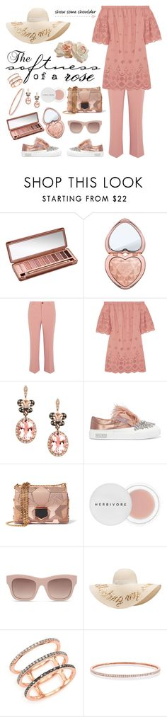 """""""The softness of a rose"""" by musicfriend1 ❤ liked on Polyvore featuring Urban Decay, Too Faced Cosmetics, Miu Miu, Madewell, Effy Jewelry, Jimmy Choo, Herbivore, STELLA McCARTNEY, Eugenia Kim and EF Collection"""