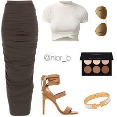 tight maxi skirt #nior_b