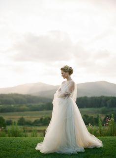 The softest cream dress by @carolhannah #bride #weddingdress
