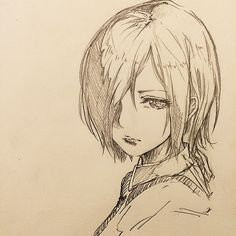 Someday my characters will turn out looking like this Anime Drawings Sketches, Pencil Art Drawings, Anime Sketch, Manga Drawing, Manga Art, Kaneki, Tokyo Ghoul Drawing, Inspiration Art, Poses References