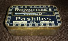 Rare Antique 1930s Rowntree Mixed Pastilles Tin 1/4 lb Net. York England https://treasurevalleyantiques.com/products/rare-antique-1930s-rowntree-mixed-pastilles-tin-1-4-lb-net-york-england #30s #Sweets #Candy #OlderThanYou #Antiques