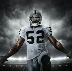 Kahlil Mack Oakland Raiders Los Angeles Silver And Black