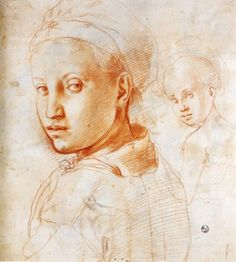 Study of a Boy Turning His Head, 1529  Jacopo Pontormo