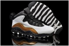 low priced 9c93b 64ce4 Nike shoes outlet store in California Discount New Men s Air Jordan 10  black white gold shoes