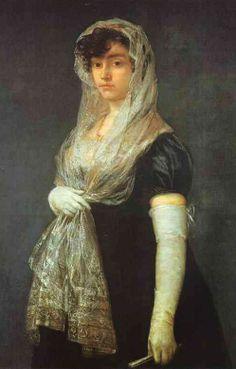 Francisco José de Goya y Lucientes (Spanish painter, 1746–1828) The Bookseller's Wife. c. 1805-08