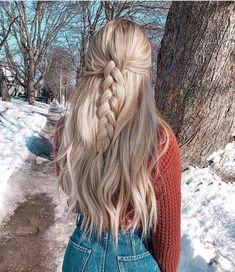 Cute Hairstyles For Girls Teen Hairstyles, Casual Hairstyles, Pretty Hairstyles, Braided Hairstyles, Basic Hairstyles, Cute Hairstyles For Teens, Tumbrl Girls, Brown Blonde Hair, Blonde Honey