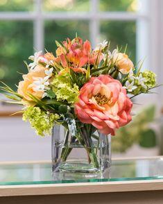 Color Inspiratioan  Rose & Ranunculus<br>Silk Flower Arrangement MIXED SOFT