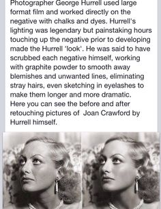 I actually did not know this about Hurrell! I always wondered how he managed to get the stars so flawless looking...