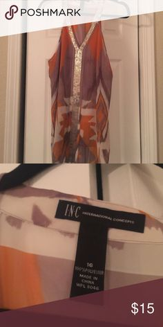 Fun Blouse From Macy's. Size 16. Never worn. Cute! INC International Concepts Tops Blouses
