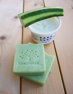 CUCUMBER SOAP - Cucumber and yogurt soap bar -Natural Handmade cucumber soap - Free from parabens and SLS (4.30 EUR) by StarSoapsbyIvana