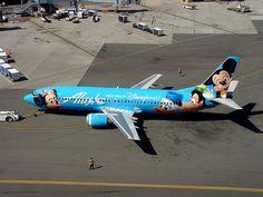 Alaska Air Disney Plane
