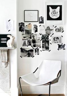 Изолента на стене
