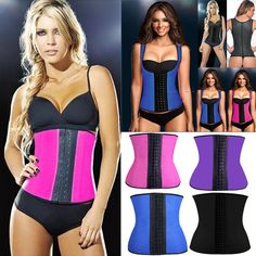 7d76eb93d572e Latex Waist Cincher belly Women Slimming Body Shaper Waist Trainer Corsets