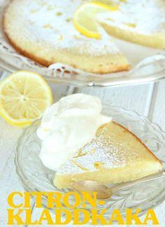 Recept på citronkladdkaka