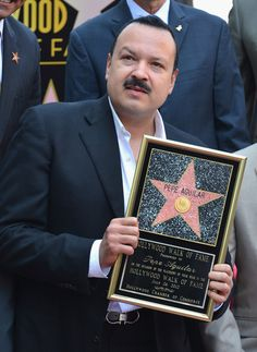 Pepe Aguilar Photos - Singer Pepe Aguilar attends a ceremony honoring him with the Star on the Hollywood Walk of Fame on July 2012 in Hollywood, California. - Pepe Aguilar Honored On The Hollywood Walk Of Fame Hollywood Walk Of Fame, In Hollywood, Pepe Aguilar, Hollywood California, Hot Guys, Spanish, Mexican, Singer, Artists